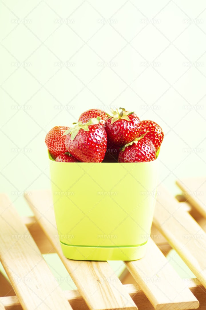 A Bucket Of Strawberries: Stock Photos