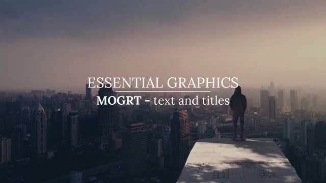 Soft Titles And Text - Essential Graphics: Motion Graphics Templates