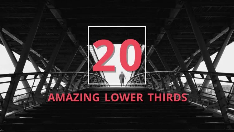 20 Amazing Lower Thirds: Motion Graphics Templates