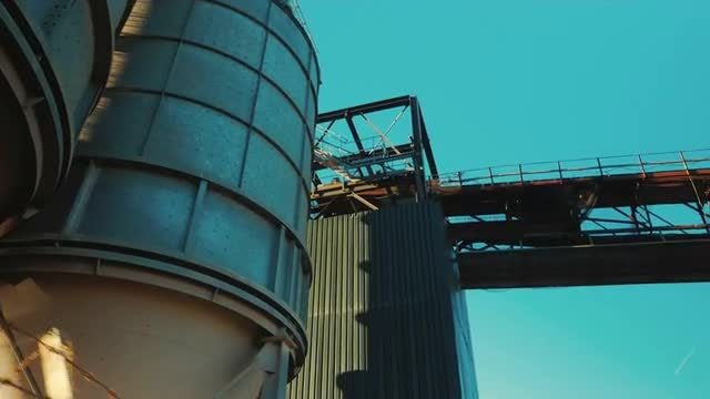 Large Cisterns At A Factory: Stock Video