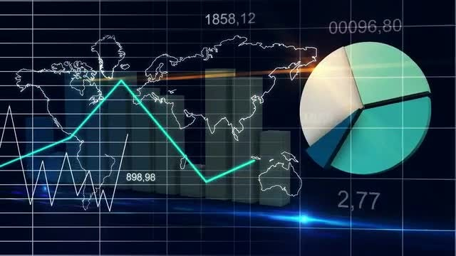 World Map Statistics Data : Stock Motion Graphics