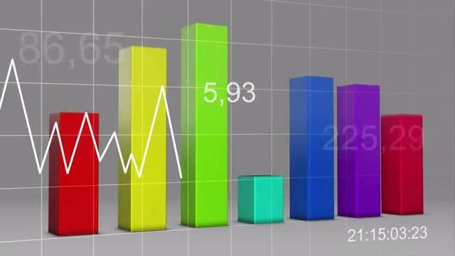 Crazy Statistics 3D Loop: Stock Motion Graphics