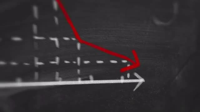 Decreasing Statistic Graph: Stock Motion Graphics