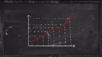 Success Shown On Chalkboard Graph: Stock Motion Graphics