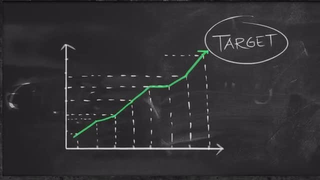 Achieving Target Statistic Graph: Stock Motion Graphics