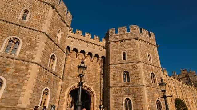 Windsor Castle Berkshire, England : Stock Video