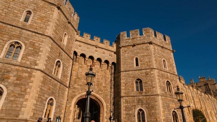 Windsor Castle Berkshire, England : Stock Video