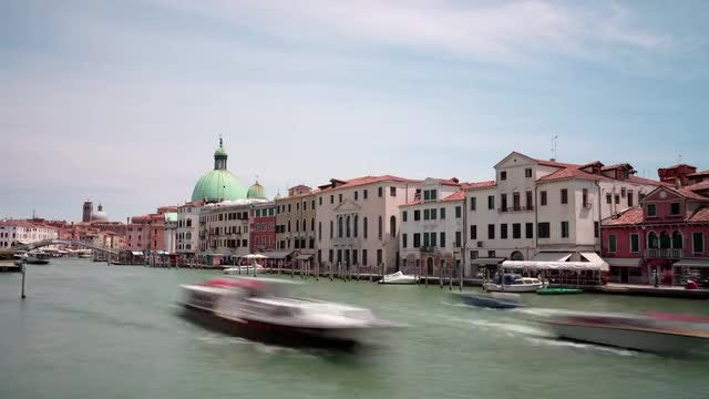 Venice Italy Time Lapse: Stock Video