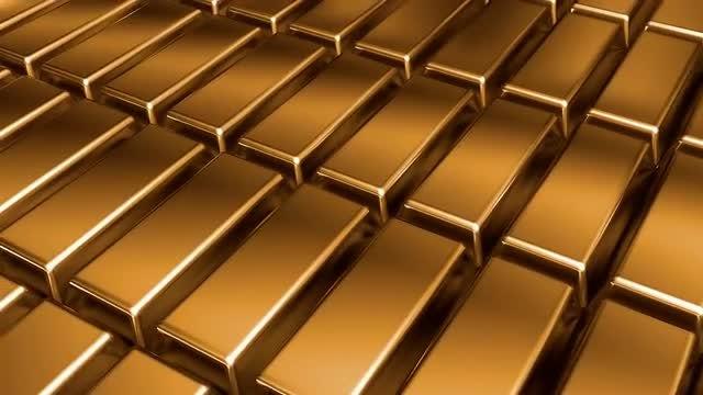 Golden Bars Loop Motion: Stock Motion Graphics