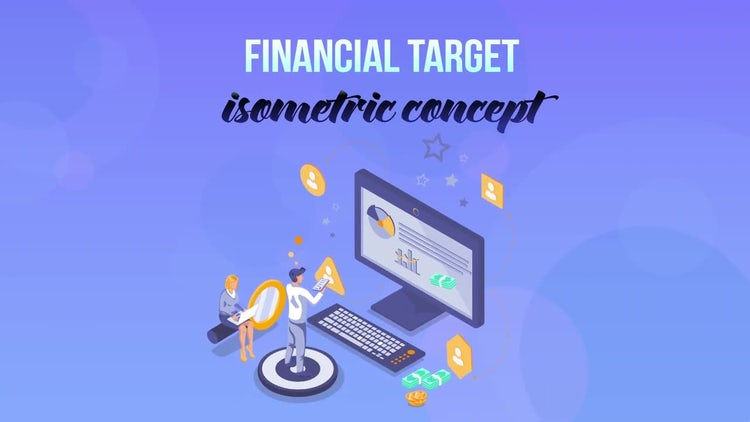 Financial Target – Isometric Concept – After Effects Templates | Motion Array Free Download