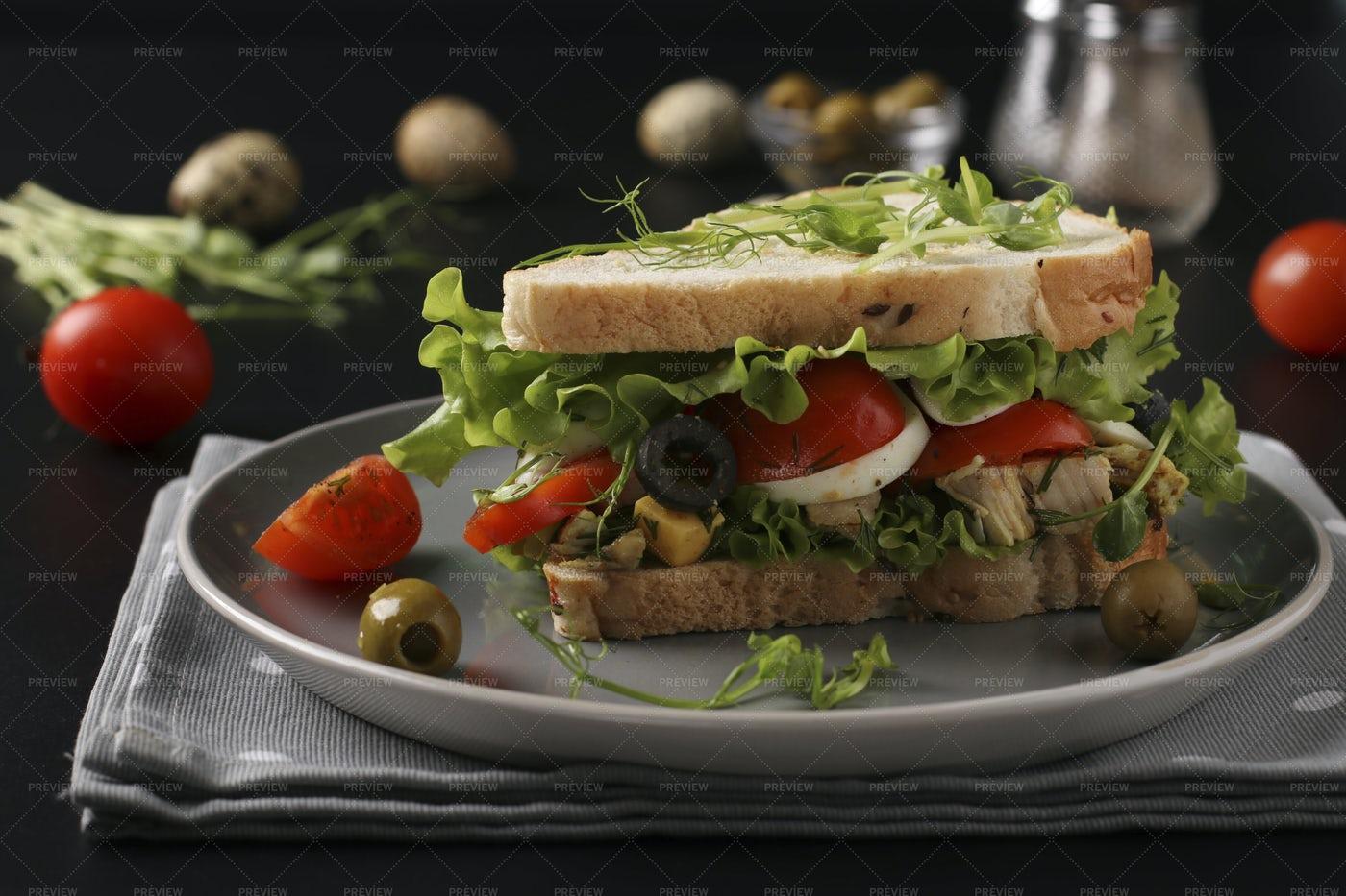 Sandwich With Chicken: Stock Photos