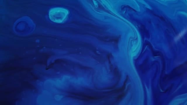 Turbulent Mixture Of Blue Paint: Stock Video