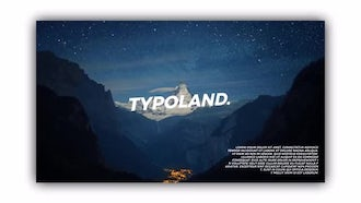 Brand New Typography: After Effects Templates