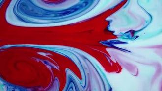 The Fluid Paint Mix: Stock Video