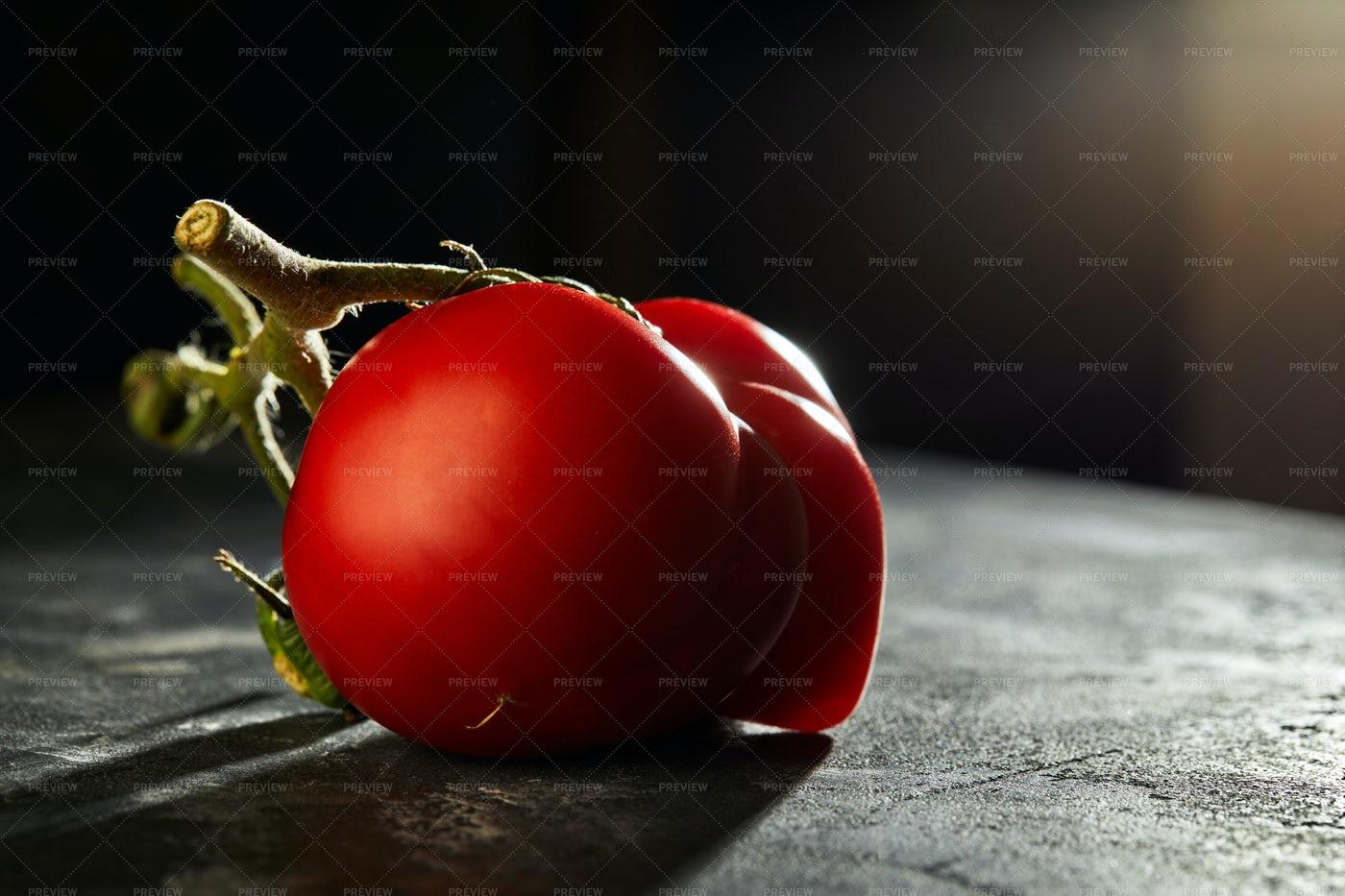 Malformed Mutant Tomato: Stock Photos