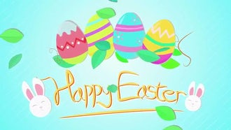 Happy Easter Greeting: Motion Graphics