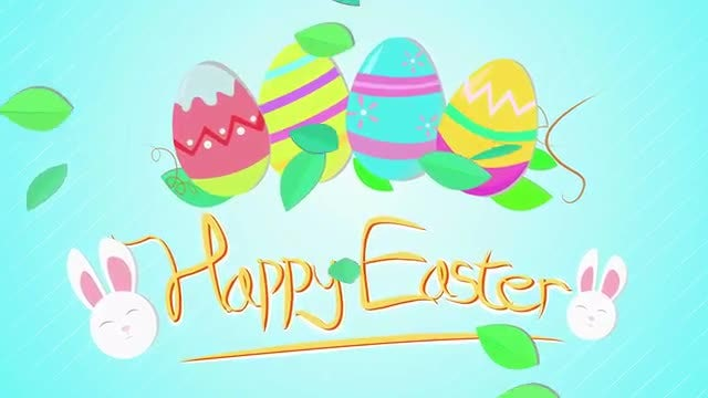 Happy Easter Greeting: Stock Motion Graphics