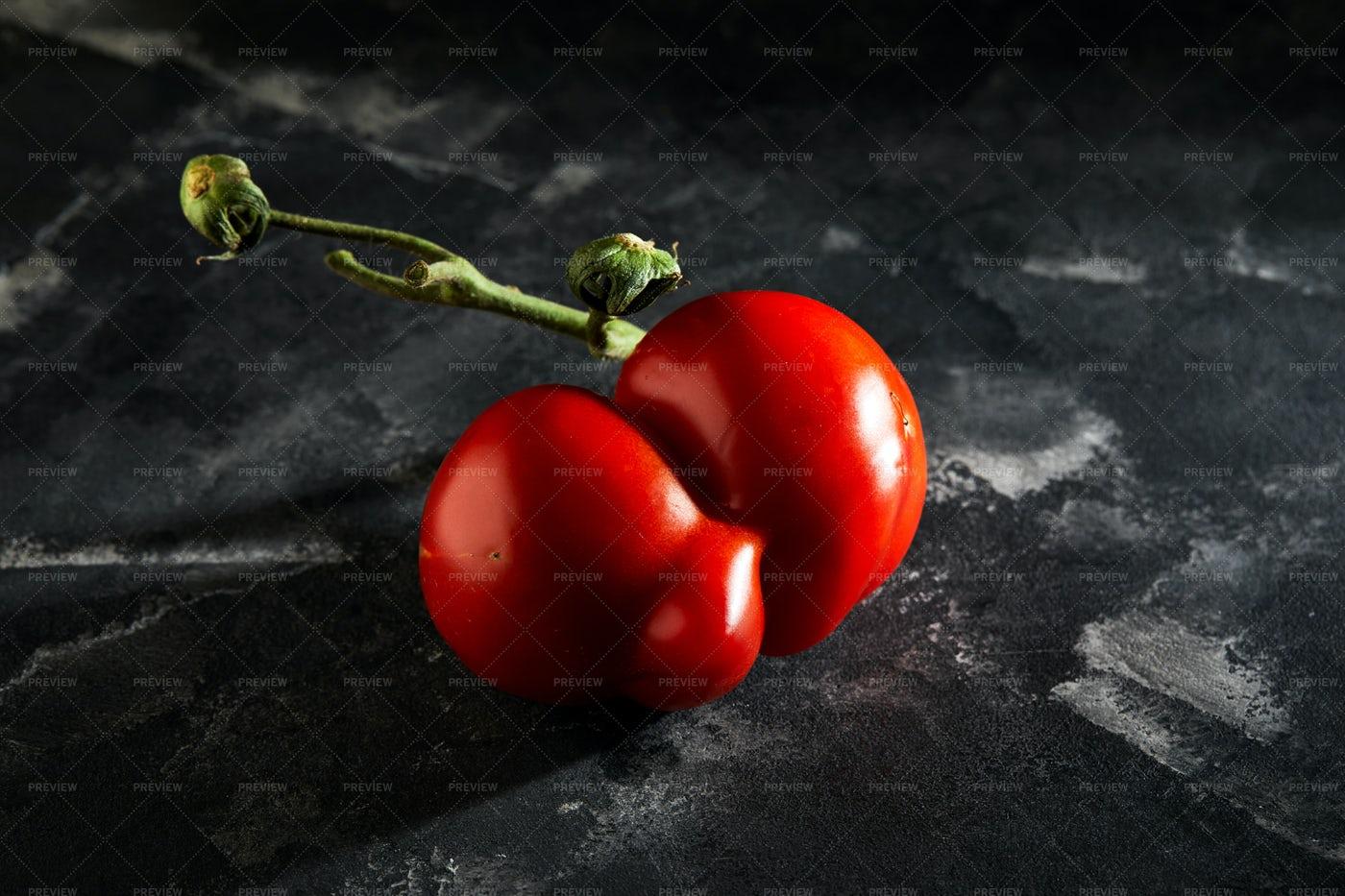 Malformed Tomato: Stock Photos