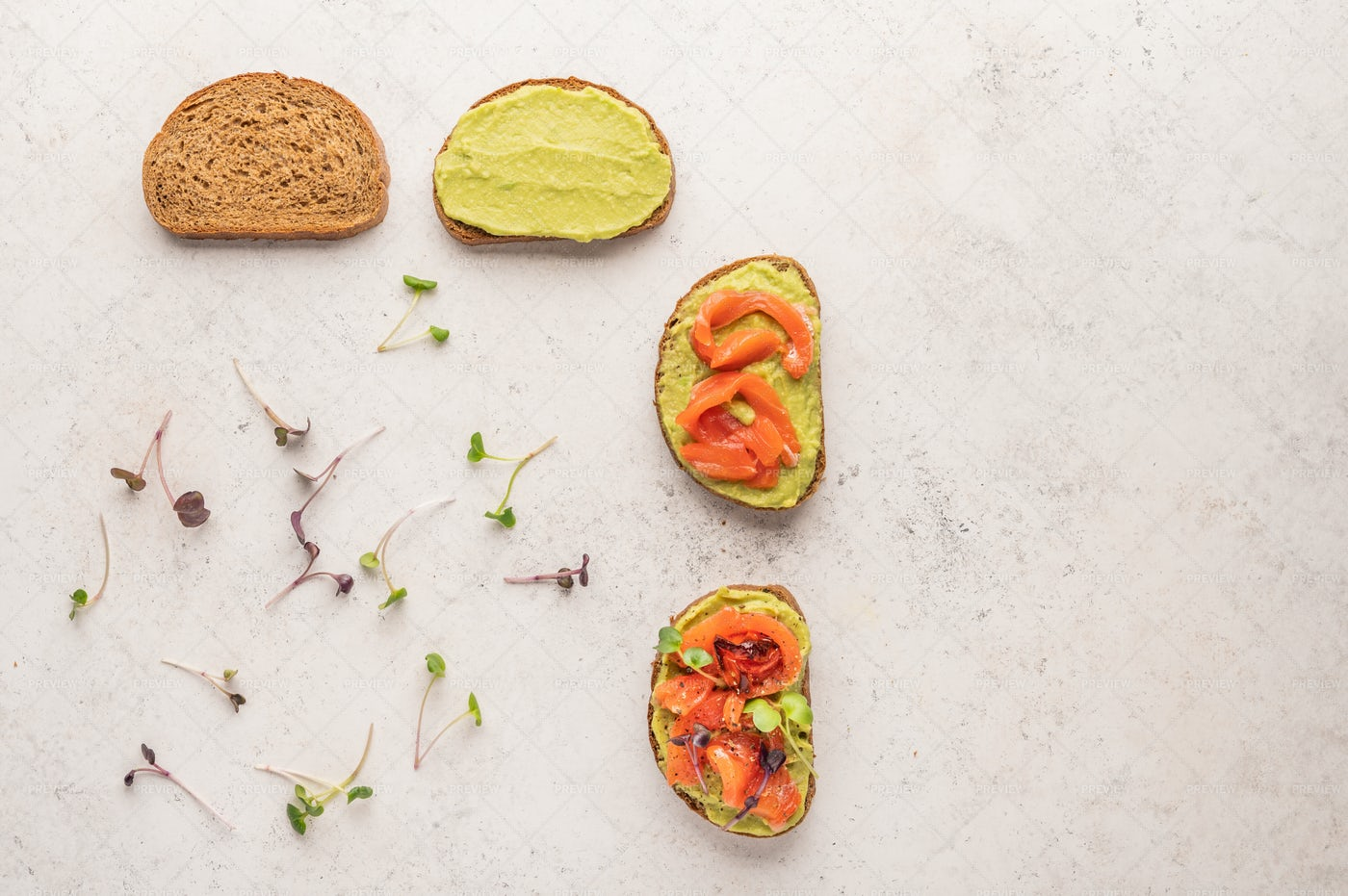 Making Of A Toasts: Stock Photos