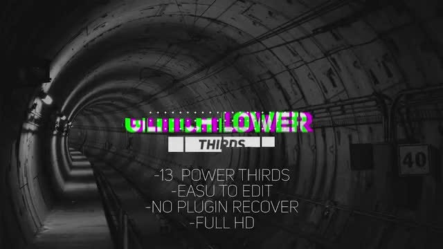 Glitch Lower Thirds v1.0: After Effects Templates
