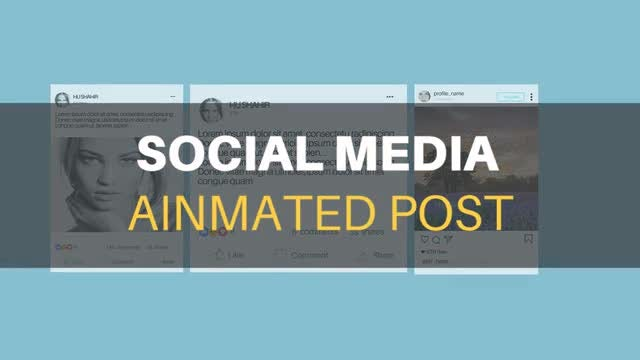 Social Media Animated Post Kit: After Effects Templates