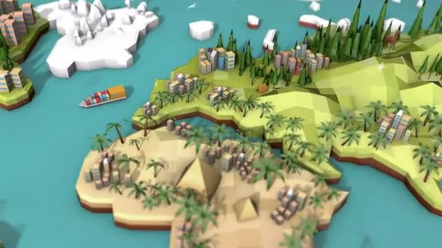 Low Poly Earth - Europe: Stock Motion Graphics