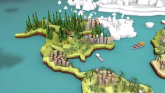 Low Poly Earth - North America: Motion Graphics