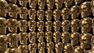 Golden Skulls Background: Motion Graphics