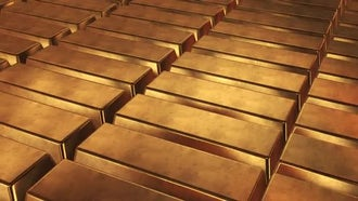 Stacked Bars Of Gold Bullion: Motion Graphics