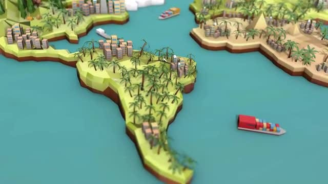 Low Poly Earth - South America: Stock Motion Graphics