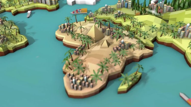 Low Poly Earth - Africa: Stock Motion Graphics