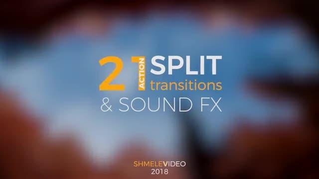 Action Split Transitions: Premiere Pro Templates
