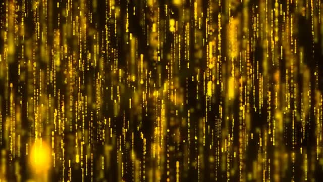 Golden Particles Tinsel Background: Stock Motion Graphics