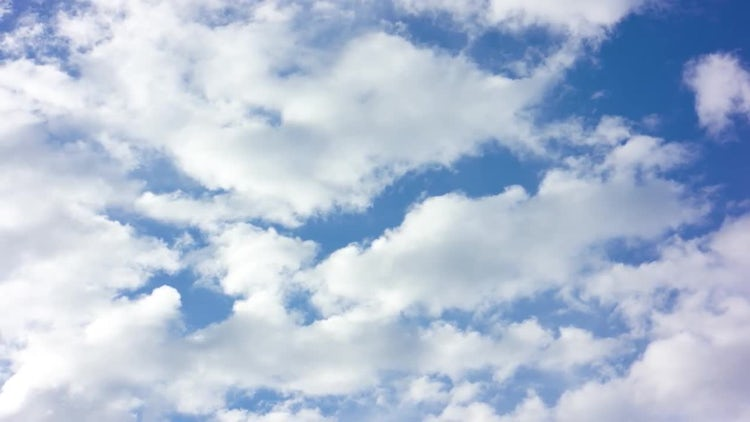 Fluffy White Clouds And Blue Sky: Stock Video