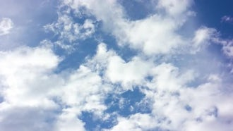 White Clouds And Blue Sky: Stock Video
