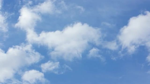Close-up Of Fluffy White Clouds: Stock Video