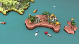 Low Poly Earth - Australia: Motion Graphics