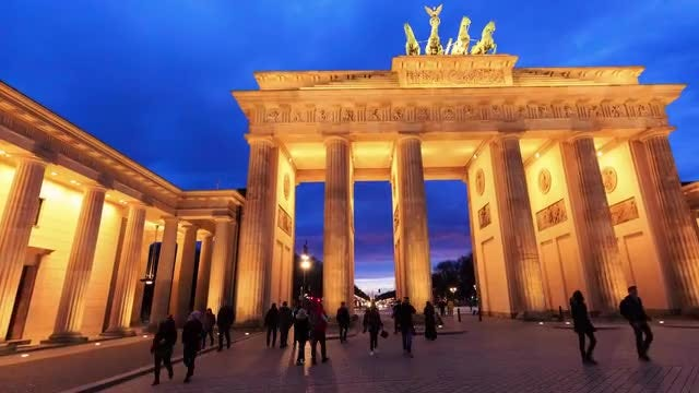 Berlin Germany Hyperlapse: Stock Video