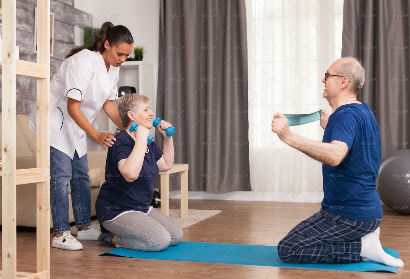 Medical Worker Doing Body Therapy: Stock Photos