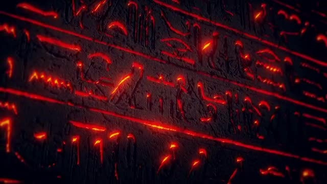 Egypt Stone Plate VJ Loop: Stock Motion Graphics