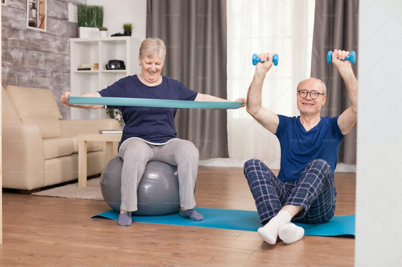 Elderly People Exercising: Stock Photos
