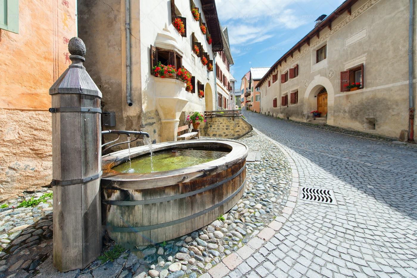 Swiss Alpine Village: Stock Photos