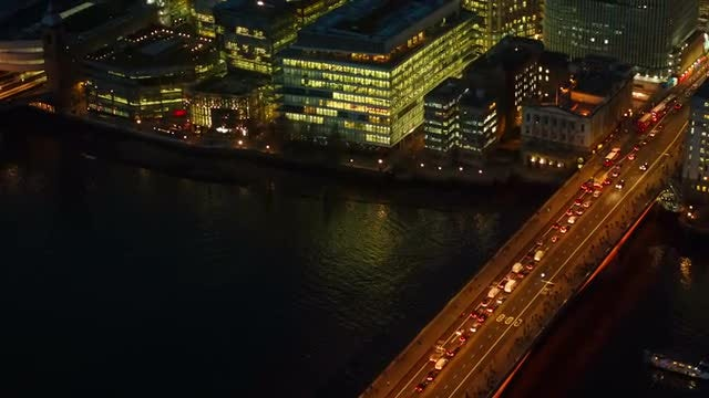 Traffic Congestion On London Bridge: Stock Video