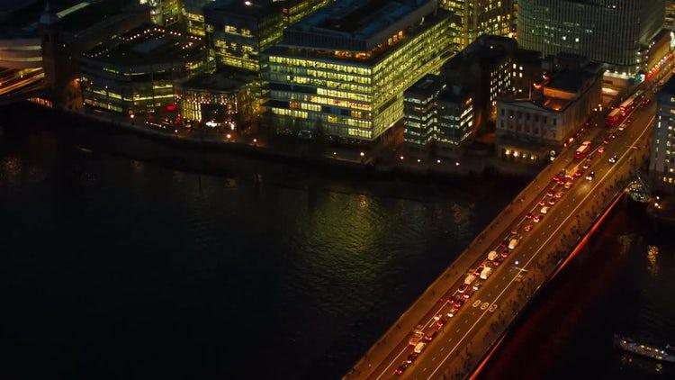 Traffic Congestion On London Bridge: Stock Video