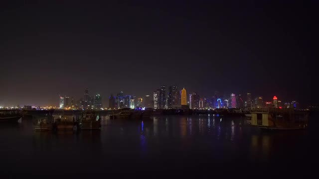 Doha Cityscape: Stock Video