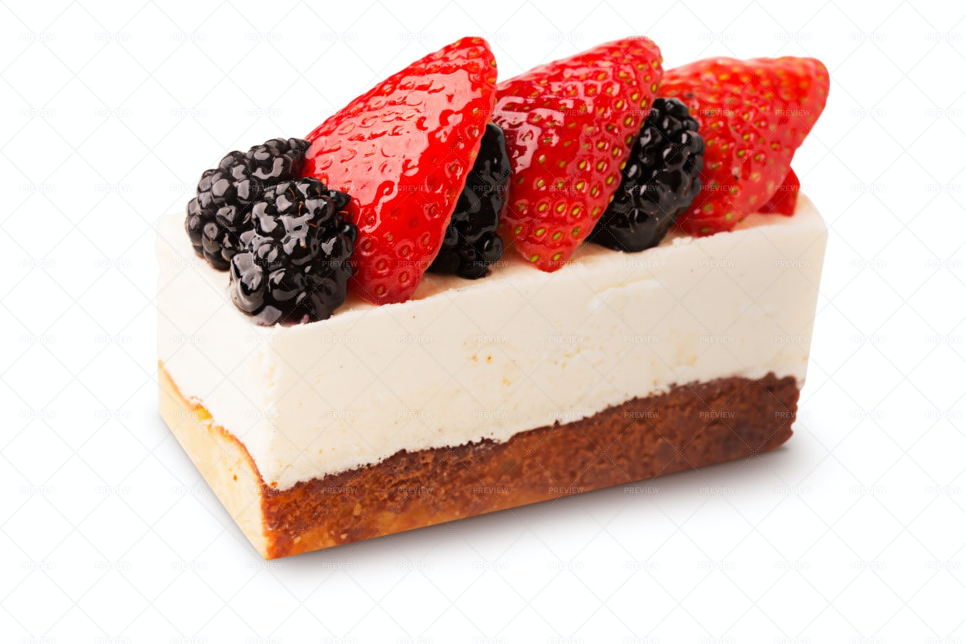 French Cake With Berries: Stock Photos