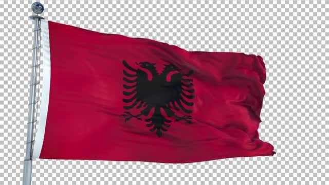 Albania Flag Animation: Stock Motion Graphics