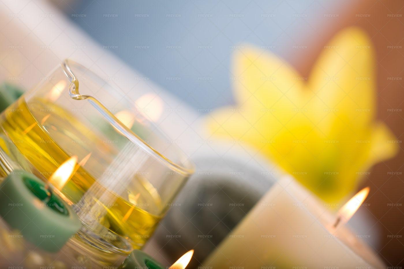 Spa Candles: Stock Photos
