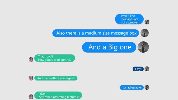 Ultimate Text Message Builder - Premiere Pro Templates