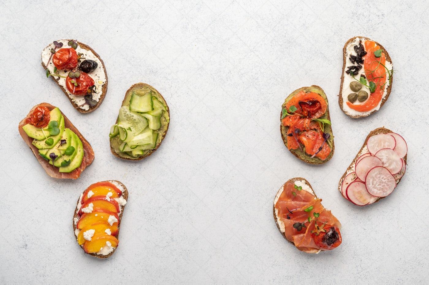 Healthy Toasts: Stock Photos
